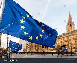 Outside Flag London October 2017 European Union Flag Stock Photo 750287977