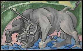 pablo picasso dying bull the met