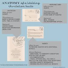 the anatomy of a wedding invitation suite wine u0026 paper