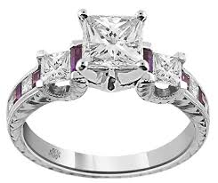 Amethyst Wedding Rings by Carat Corina Amethyst Diamond 14kt White Gold Engagement Ring