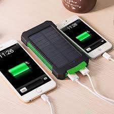 Diy Solar Phone Charger Dcae Real 10000mah Power Bank Waterproof Shock Drop Resistance
