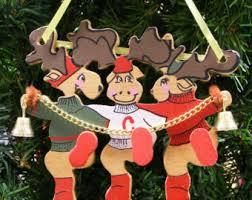 Dancing Reindeer Christmas Decorations by Ksa Etsy