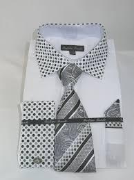 fortino landi fl630 white men u0027s french cuff dress shirt solid body