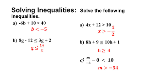 System Of Linear Inequalities Worksheet Linear Equations And Inequalities