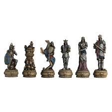 3 1 4 u0027 u0027 painted polystone skeleton chess pieces