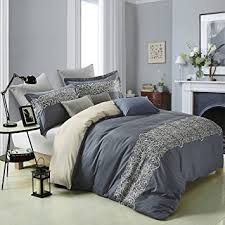 King Size Duvet Cover Set Amazon Com Superior Harrison 100 Cotton Duvet Cover Set With 2