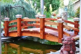 Backyard Bridge Pond U0027s And Water Features How To Make Your Garden Bridge Safer