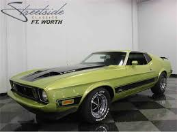 Classic Black Mustang 1973 Ford Mustang Mach 1 For Sale On Classiccars Com 12 Available