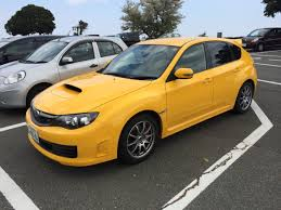 subaru yellow subaru wrx sti spec c i found in japan subaru
