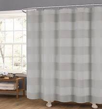 Light Grey Shower Curtain Duck River Striped Shower Curtains Ebay