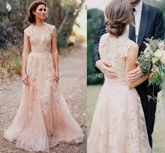 blush wedding dress blush wedding dress with sleeves naf dresses