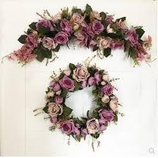 Wedding Flowers Background Aliexpress Com Buy New Purple Rose Artificial Flowers Door