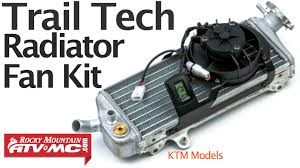 trail tech digital radiator fan kit installation ktm models