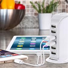 table l with usb charging port 30 watt 6 port usb charging station live deals