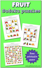 fruit sudoku puzzles free printables gift of curiosity