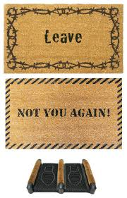 funny doormat kit set of 3 traditional doormats by rubber cal