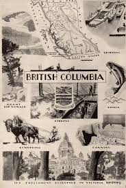 Map Of British Columbia Canada by Vintage 1928 British Columbia Map And Illustration Of Industry