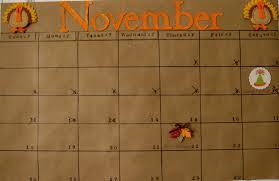 blissful roots november calendar for ones