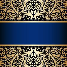 luxury blue background with ornament gold vector 11 vector