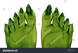 halloween background green zombie feet creepy halloween scary symbol stock illustration