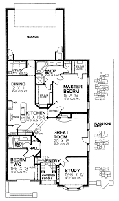 narrow lot house plans open floor plan