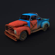 old rusty cars 3d asset animated old rusty pickup truck cgtrader