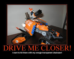 Chainsaw Meme - drive me closer i want to hit them with my orange transparent