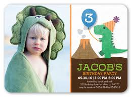 party dinosaur 5x7 invitation boy birthday invitations shutterfly