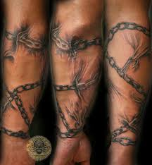 chains forearm sleeve tat by 2face on deviantart