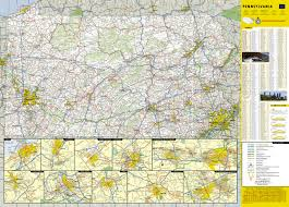 Pennsylvania Map With Cities And Towns by Pennsylvania National Geographic Guide Map National Geographic