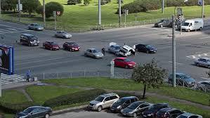 saint petersburg russia august 16 2013 car accident in street