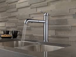 Single Handle Pull Out Kitchen Faucet Delta Trinsic Kitchen Single Handle Pull Out Standard Kitchen