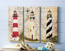 canvas lighthouse bathroom decor in nautical lighthouse bathroom