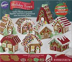 Gingerbread House Decoration Amazon Com Wilton Build It Yourself Holiday Town Gingerbread