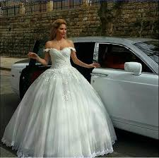 exquisite lace winter fall wedding dresses off shoulder arbic