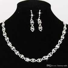 white crystal necklace set images 2017 bling crystal bridal jewelry set silver plated necklace jpg