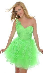 a line floral embellishments short one shoulder sweetheart green
