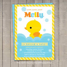 how to select the rubber duck baby shower invitations designs