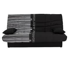 canapé lit en mousse banquette lit clic clac porto code barre noir banquettes but