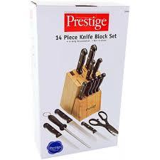 prestige kitchen knives prestige 14 pc knife block set pr50509
