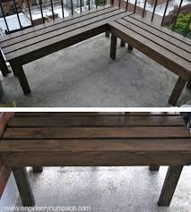 Wood Outdoor Bench Diy Outdoor Wood Bench Smart Diy Solutions For Renters Outdoor