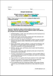 grammar simple sentences elem upper elem worksheets i abcteach