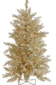 artificial christmas tree champagne prelit christmas tree 3ft h x