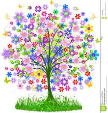 floral tree stock illustration image of shape design 24934944