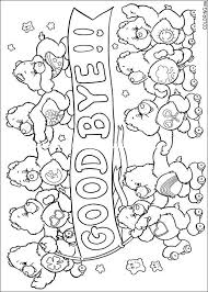 coloring page care bears good bye coloring me