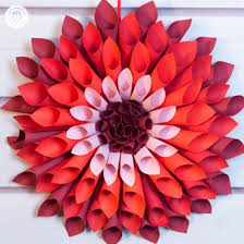 paper flowers this paper dahlia looks beautiful as a door wreath or wall