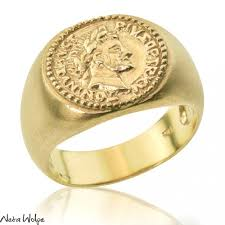 signet wedding ring coin gold signet wedding ring neta wolpe