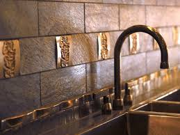 Exellent Copper Backsplash Tiles For Kitchen In Soothing - Copper backsplash