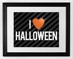 i love halloween free printable