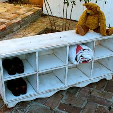 Winslow White Shoe Storage Cubbie Bench Shop Cubby Storage On Wanelo